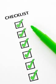 chenicals checklist